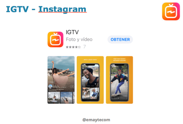 canal de vídeo de Instagram